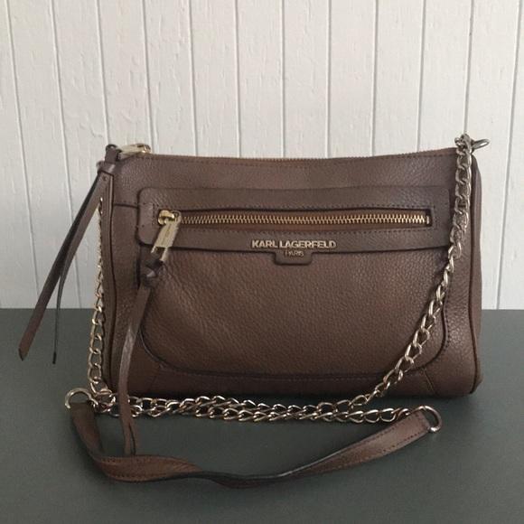 746e58e509fa Karl Lagerfeld Bags | Paris Brown Leather Bag | Poshmark